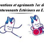 Conventions et agréments 1er degré – Intervenants Extérieurs en E.P.S