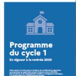 Programmes du cycle 1