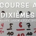 Les fractions décimales  avec le jeu: la course aux dixièmes