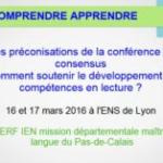 Conférence de consensus : lire, comprendre, apprendre : comment soutenir le développement des compétences en lecture ? Diaporama A. Cerf
